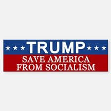 Save America From Socialism Bumper Bumper Bumper Sticker