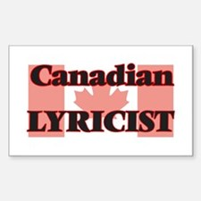 Canadian Lyricist Decal