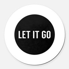 Let It Go Round Car Magnet