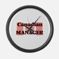 Canadian Manager Large Wall Clock