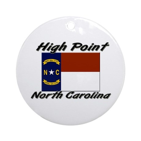 High Point North Carolina Ornament (Round)