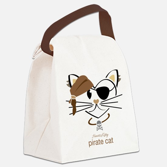 Pirate Cat Canvas Lunch Bag