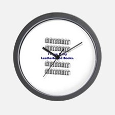 I Have Many Leatherbound Book Wall Clock