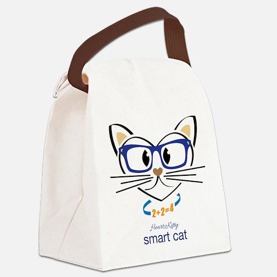 Smart Cat Canvas Lunch Bag