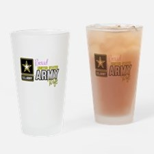 Proud US Army Wife Logo Drinking Glass