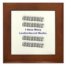 I Have Many Leatherbound Book Framed Tile