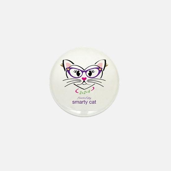Smarty Cat Mini Button