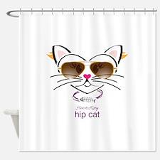 Hip Cat Shower Curtain