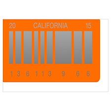 Cute California license Wall Art