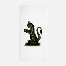 Bookworm Dragon Beach Towel