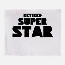 (Your Text) Super Star Throw Blanket