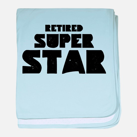 (Your Text) Super Star baby blanket