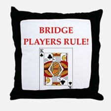 funny bridge joke Throw Pillow