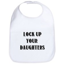 Funny Lock up your daughters Bib