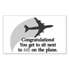 Airplane Ride Rectangle Decal