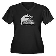 Airplane Ride Women's Plus Size V-Neck Dark T-Shir