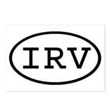 IRV Oval Postcards (Package of 8)