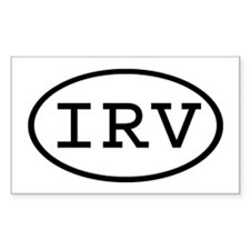IRV Oval Rectangle Decal