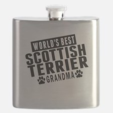 Worlds Best Scottish Terrier Grandma Flask