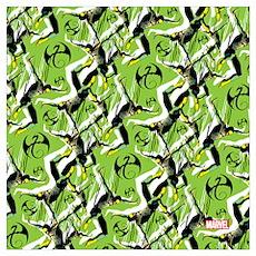 Iron Fist Pattern Wall Art Poster