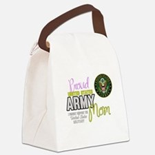 Proud Army Mom Seal Canvas Lunch Bag