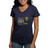 Army family Womens V-Neck T-shirts (Dark)