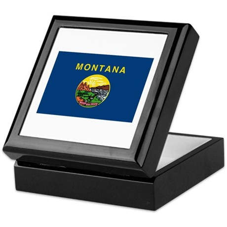 Montana Flag Keepsake Box
