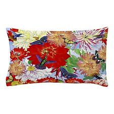 Hummingbirds, Butterflies, Dahlias Pillow Case