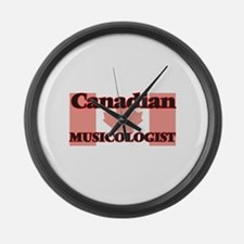 Canadian Musicologist Large Wall Clock