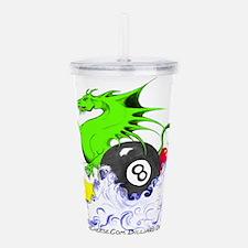 Pool Dragon Acrylic Double-wall Tumbler