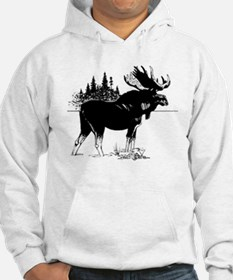 Moose (Front only) Hoodie