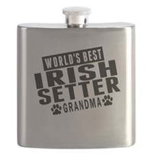 Worlds Best Irish Setter Grandma Flask