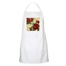 Vintage poinsettia and holly Apron