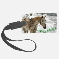 Appaloosa in the Snow Luggage Tag