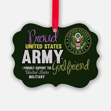 Proud Army Girlfriend Seal Ornament