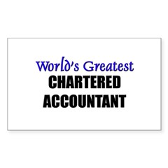 Worlds Greatest CHARTERED ACCOUNTANT Decal