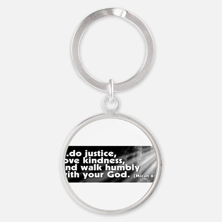 Cute Religious liberal Round Keychain