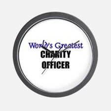 Worlds Greatest CHARITY OFFICER Wall Clock