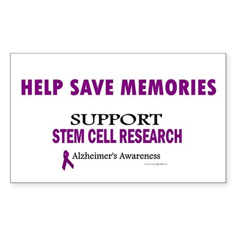 Help Save Memories Rectangle Sticker