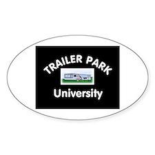 Trailer Park University Oval Bumper Stickers