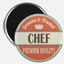 chef vintage logo Magnet
