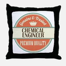 chemical engineer vintage logo Throw Pillow