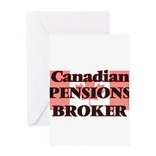 Canadian Pensions Broker Greeting Cards