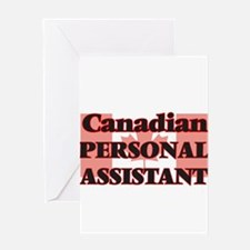 Canadian Personal Assistant Greeting Cards