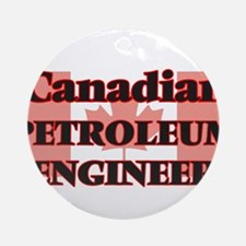 Canadian Petroleum Engineer Round Ornament