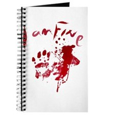 blood Splatter I Am Fine Journal