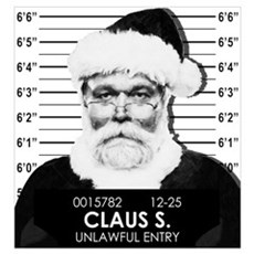 Santa Mugshot Canvas Art