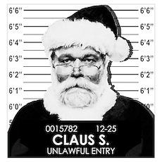 Santa Mugshot Poster