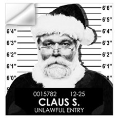 Santa Mugshot Wall Decal