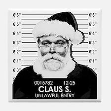 Santa Mugshot Tile Coaster